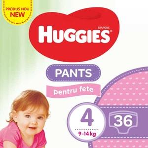 Scutece chilotei HUGGIES Jumbo pack nr 4, Fata, 9-14 kg, 36 buc