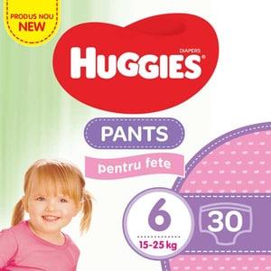 Scutece chilotei HUGGIES Jumbo pack nr 6, Fata, 15-25 kg, 30 buc