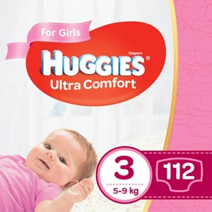 Scutece HUGGIES Ultra Comfort Box nr 3, Fata, 5-9 kg, 112 buc