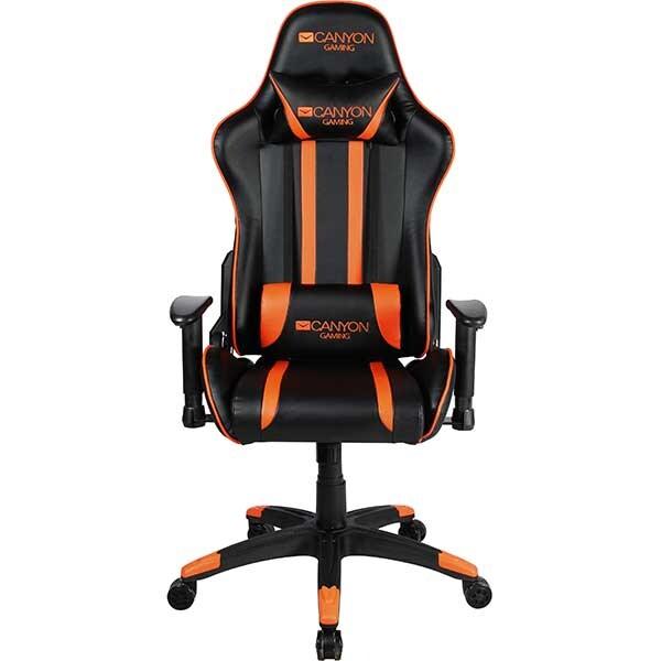 Scaun Gaming CANYON Fobos CND-SGCH3, negru-portocaliu