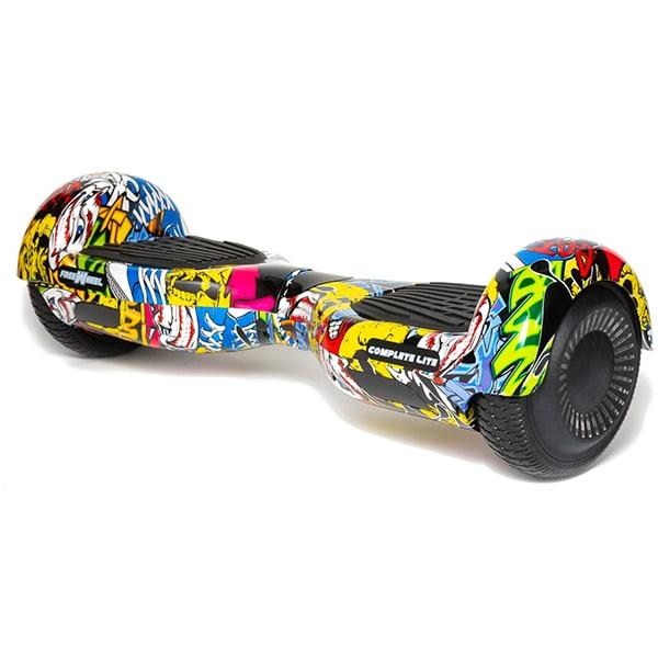Hoverboard FREEWHEEL Complete Lite, 6.5 inch, viteza 12 km/h, motor 2 x 200W, graffiti galben + geanta transport cadou