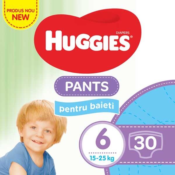 Scutece chilotei HUGGIES Jumbo pack nr 6, Baiat, 15-25 kg, 30 buc