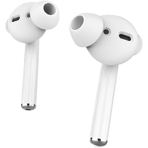 Set dopuri silicon pentru Apple AirPods PROMATE PodSkin, alb