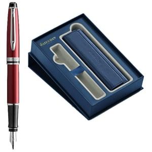 Set stilou si etui WATERMAN Expert Deluxe, cutie cadou, rosu-albastru