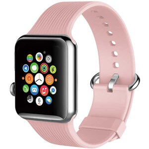 Bratara pentru Apple Watch 42mm, PROMATE Silica-42, silicon, roz