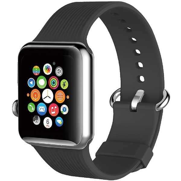 Bratara pentru Apple Watch 42mm, PROMATE Silica-42, silicon, gri