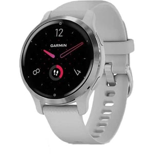 Smartwatch GARMIN Venu 2S 40mm, Android/iOS, silicon, Silver Stainless Steel Bezel/Mist Gray Case