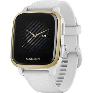 Smartwatch GARMIN Venu Sq, Android/iOS, silicon, White/Light Gold