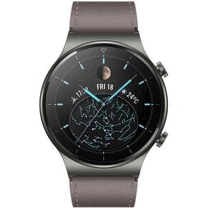 Smartwatch HUAWEI GT 2 Pro, Android/iOS, piele, Nebula Gray