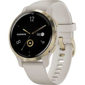 Smartwatch GARMIN Venu 2S 40mm, Android/iOS, silicon, Light Gold Stainless Steel Bezel/Light Sand Case