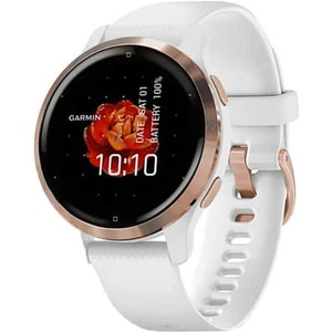 Smartwatch GARMIN Venu 2S 40mm, Android/iOS, silicon, Rose Gold Stainless Steel Bezel/White Case