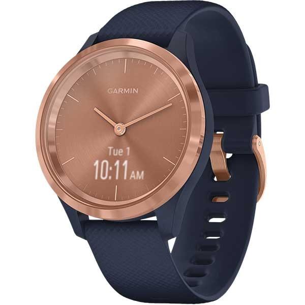 Smartwatch GARMIN Vivomove 3S 39mm, Android/iOS, silicon, Blue Gold