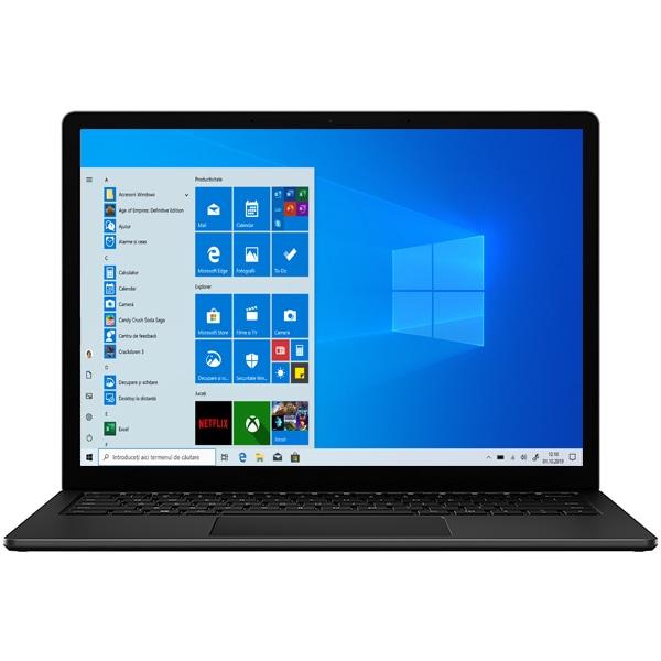 "Laptop MICROSOFT Surface 3, AMD Ryzen 5 3580U pana la 3.7GHz, 15"" Touch, 8GB, SSD 256GB, AMD Radeon Vega 9 Graphics, Windows 10 Home, negru"