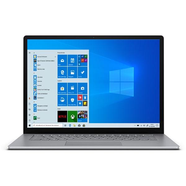 "Laptop MICROSOFT Surface 3, AMD Ryzen 5 3580U pana la 3.7GHz, 15"" Touch, 8GB, SSD 128GB, AMD Radeon Vega 9 Graphics, Windows 10 Home, Platinum"