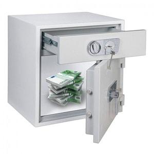 Seif certificat ROTTNER RSR 1/67 DB-DB, Inchidere cheie, 550 x 650 x 670 mm, alb