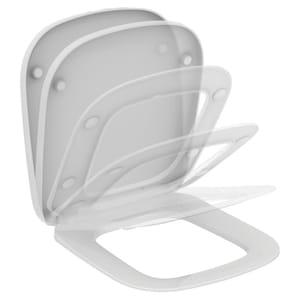 Capac toaleta IDEAL STANDARD Esedra T318301, duroplast, alb