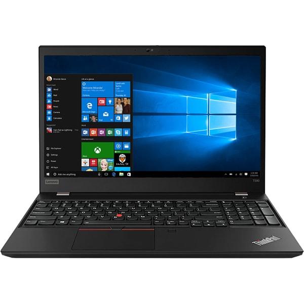 """Laptop LENOVO ThinkPad T590, Intel Core i7-8565U pana la 4.6GHz, 15.6"""" Full HD, 16GB, SSD 512GB, NVIDIA GeForce MX250 2GB, Windows 10 Pro, negru"""