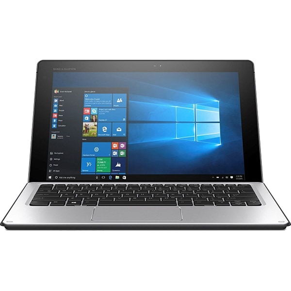 Laptop 2 in 1 HP Elite x2 1012 G1, Intel® Core™ m7-6Y75 pana la 3.1GHz, 12 WUXGA+, 8GB, SSD 256GB, Intel® HD Graphics 515, Windows 10 Pro, Argintiu