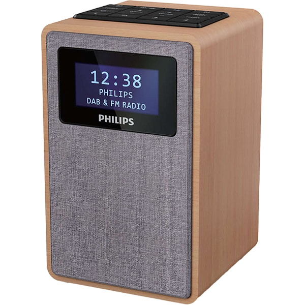 Radio cu ceas PHILIPS TAR5005/10, FM, DAB+, negru