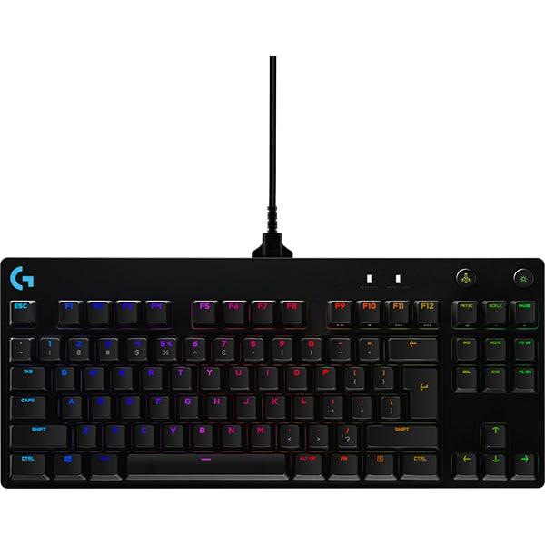 Tastatura Gaming mecanica LOGITECH PRO GX BLUE, USB, Layout US INT, negru