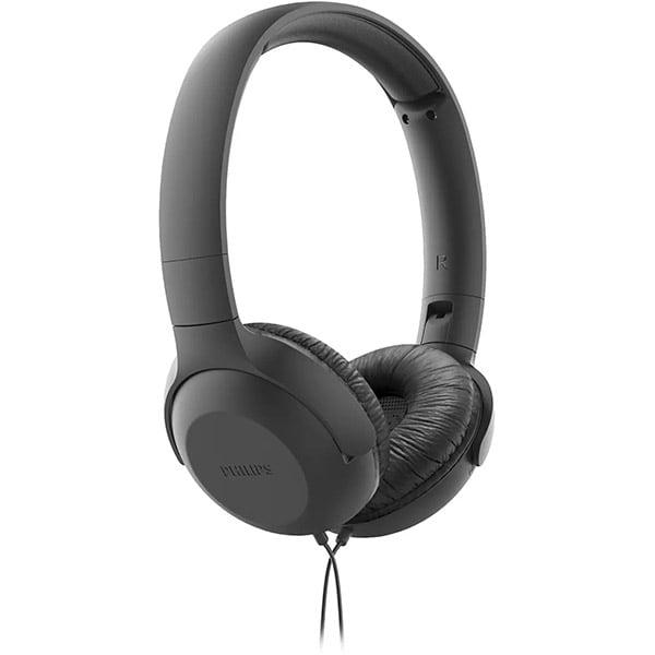 Casti PHILIPS UpBeat TAUH201BK/00, Cu Fir, On-Ear, Microfon, negru