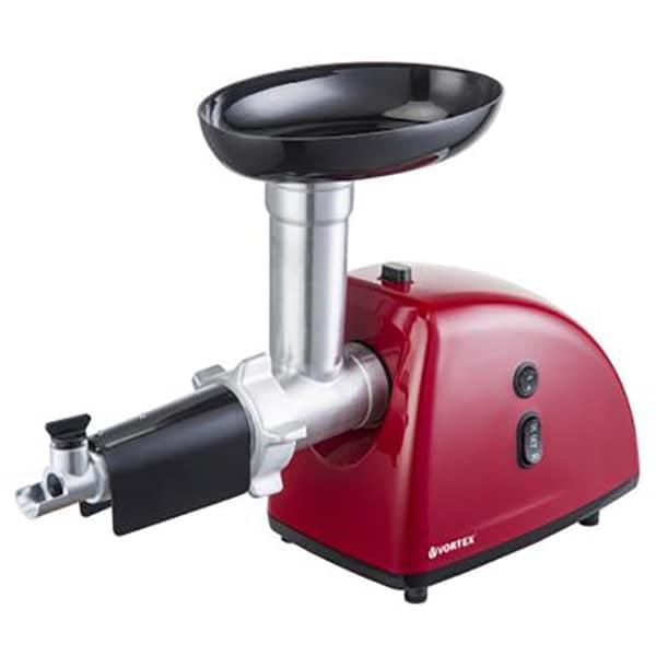 Masina de tocat carne VORTEX VO4018RD, 1kg/min, 1600W, accesoriu suc de rosii, rosu