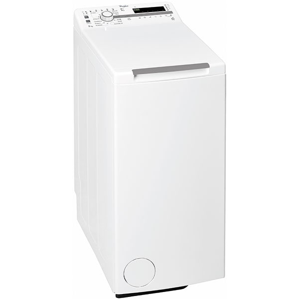 Masina de spalat rufe verticala WHIRLPOOL TDLR7220SSEU/N, 6th Sense, 7 kg, 1200rpm, Clasa E, alb