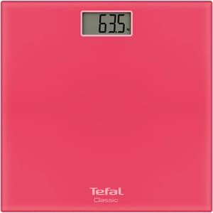 Cantar corporal TEFAL Classic PP1134V0, 160kg, electronic, sticla, roz