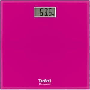 Cantar corporal TEFAL Premiss PP1063V0, 150kg, electronic, sticla, roz