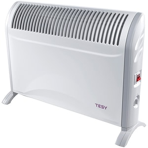 Convector electric de podea TESY CN 214 ZF, 2000W, termostat reglabil, alb