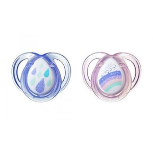 Suzeta ortodontica TOMMEE TIPPEE Anytime, 0 - 6 luni, 2 buc, bleu - roz