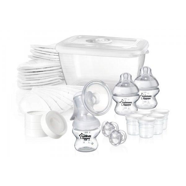 Set de alaptare cu pompa de san manuala TOMMEE TIPPEE TT0089, alb-transparent