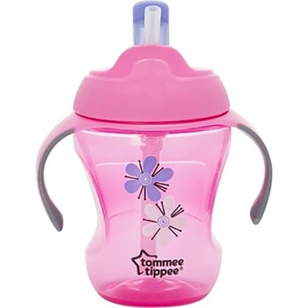 Cana cu pai TOMMEE TIPPEE Explora Easy Drink, 6 luni +, 230 ml, roz