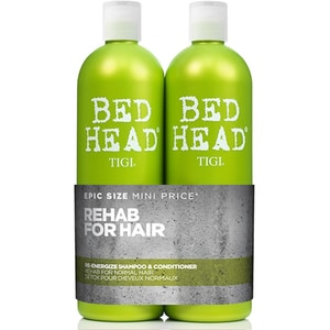 Pachet promo TIGI Bed Head Urban Re-energize: Sampon, 750ml + Balsam de par, 750ml