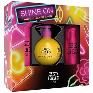 Set cadou TIGI Bed Head Shine On: Spray pentru stralucire, 200ml + Lotiune pentru volum, 240ml + Crema pentru netezire, 100ml