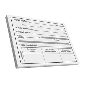 Dispozitie de plata catre caserie VOLUM, A6, 100 file x 3 carnete