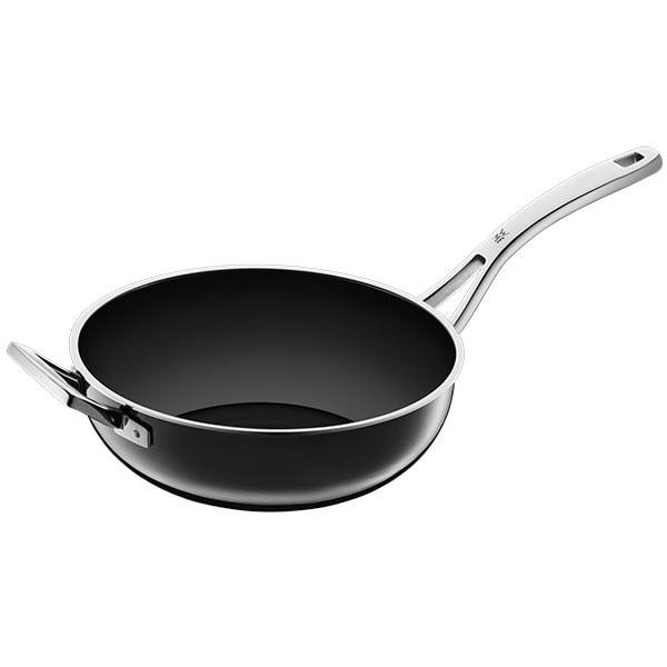 Tigaie Wok WMF Fusiontec Black, 28cm, otel, gri