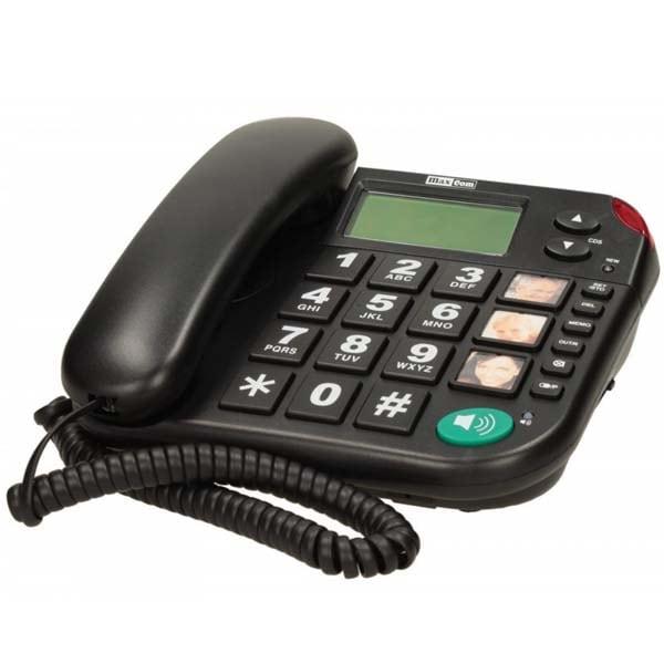 Telefon fix cu fir MAXCOM KXT480, DECT, negru