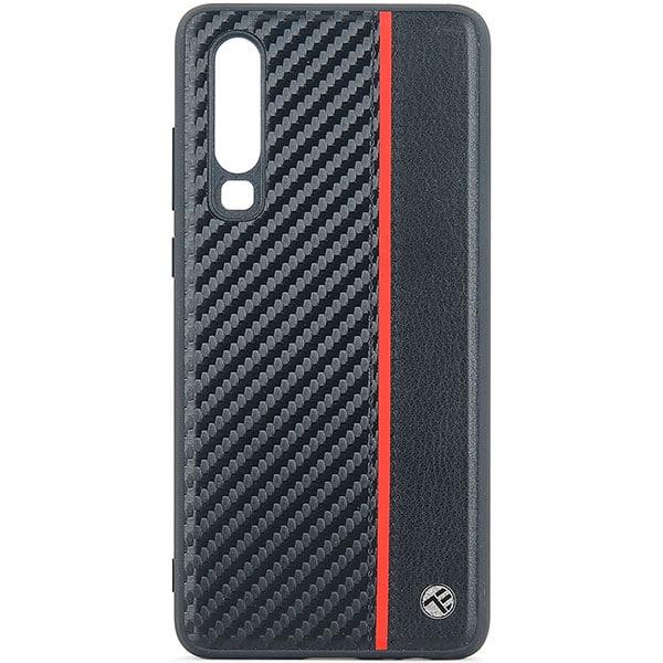 Carcasa pentru Huawei P30, TELLUR TLL121875, carbon, negru