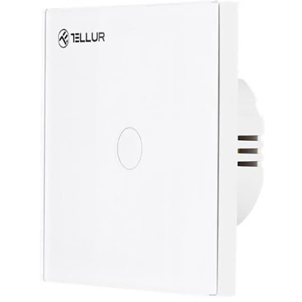 Intrerupator cu touch TELLUR TLL331041, Wi-Fi, 10A, alb