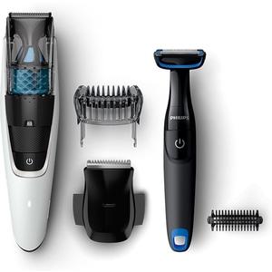 Pachet PHILIPS Aparat de tuns barba cu aspirare Series 7000 BT7204/85 + Body groomer