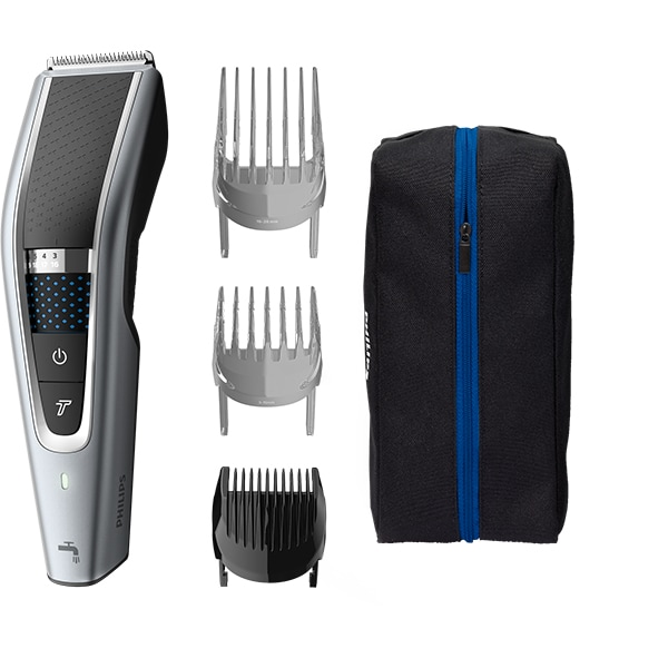 Aparat de tuns PHILIPS Hairclipper series 5000 HC5630/15, acumulator, 90 min autonomie, argintiu