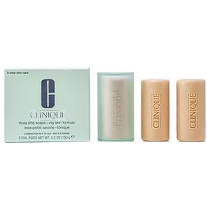 Tratament facial CLINIQUE Three Little Soaps, 150g