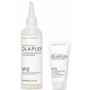 Set OLAPLEX: Tratament pentru par Intensive Bond Building No.0, 155ml + Tratament pentru par Hair Perfector No.3, 30ml