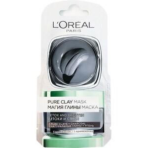 Masca de fata revitalizanta cu exctract de carbune activ L'OREAL PARIS Pure Clay, 6ml