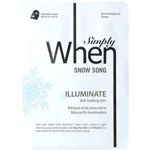 Masca de fata WHEN Snow Song, 23ml