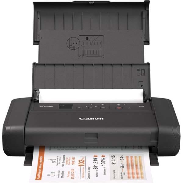 Imprimanta inkjet color portabila CANON TR150, A4, USB, Wi-Fi, Acumulator