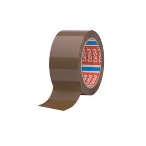 Banda adeziva TESA, 48 mm x 66 m, adeziv din cauciuc sintentic, maro