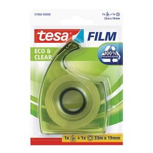 Banda adeziva cu dispenser EasyCut TESA, 19 mm x 33 m, transparent