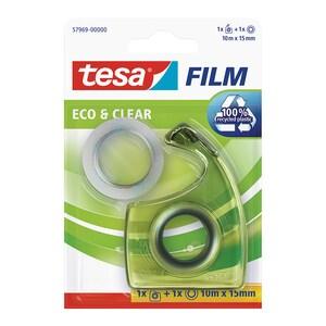 Banda adeziva cu dispenser EasyCut TESA, 15 mm x 10 m, transparent